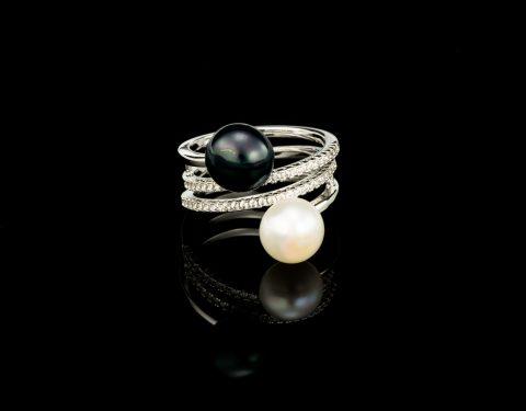Inel cu 2 Perle