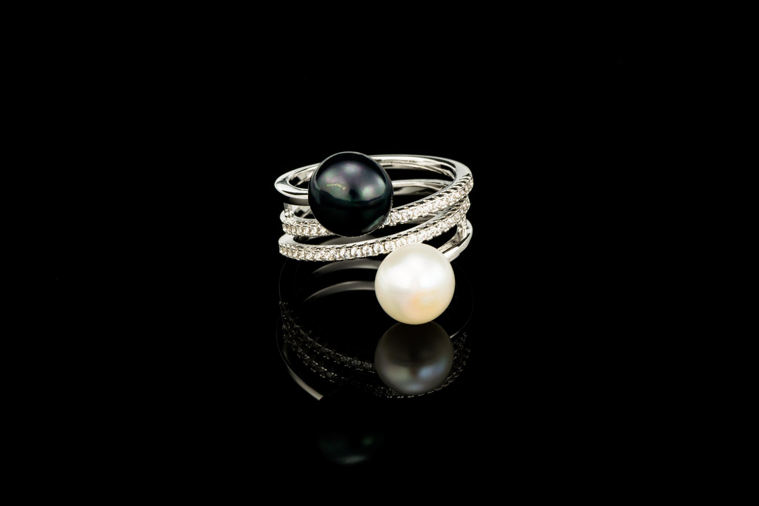 Inel Perle Tangled Design
